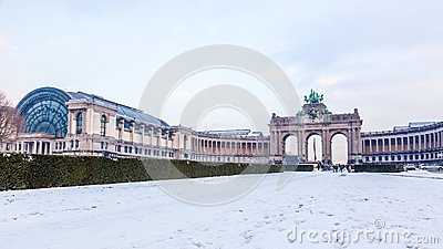 Cinquantenaire or Jubel park in Brussels, Belgium.