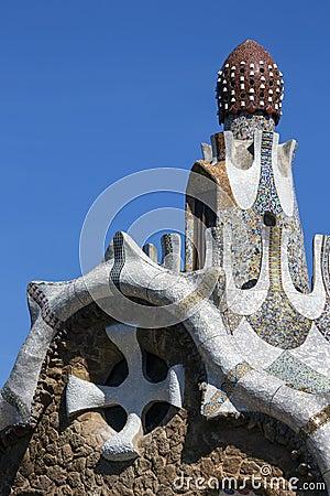 Parc Guell - Barcellona - la Spagna