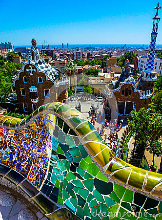 Free Parc Guell, Barcelona Royalty Free Stock Photo - 35625015