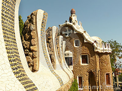 Parc guell exit house barcelona spain