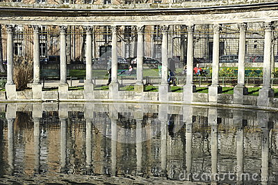 Parc Monceau with its Classical Colonnade, Paris Editorial Photo