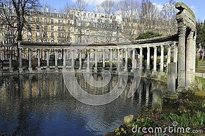 Parc Monceau, Paris, France Editorial Stock Image