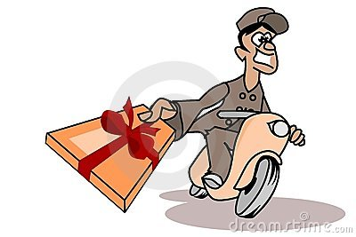 Parcel deliverer