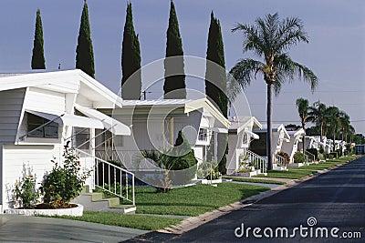 Parcheggio di case mobili