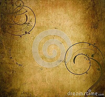 Parchment background dark swirls