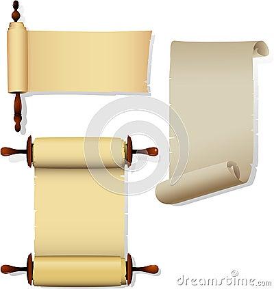 Parchment banners