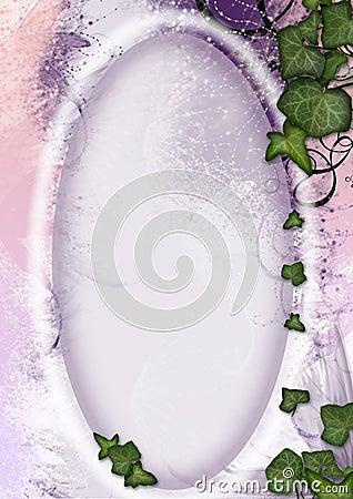 Parchment frame - fairy, elven