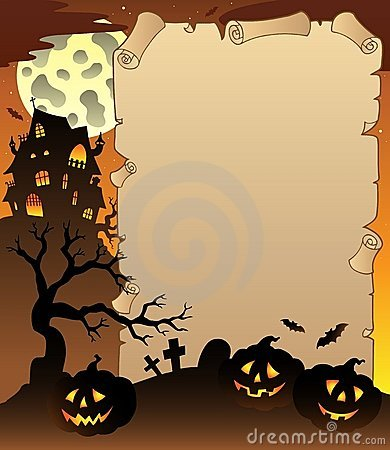Parchment with Halloween topic 1