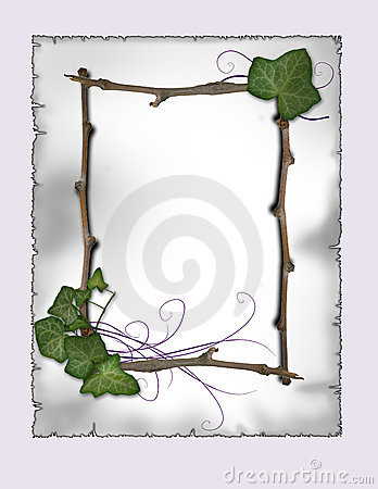 parchment - Ivy and branch frame