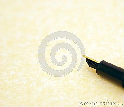 Parchment and pen