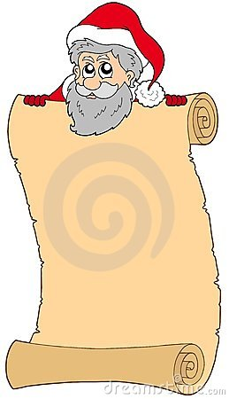 Parchment with Santa Claus