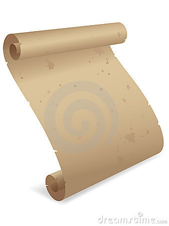 Parchment Scroll 3D EPS