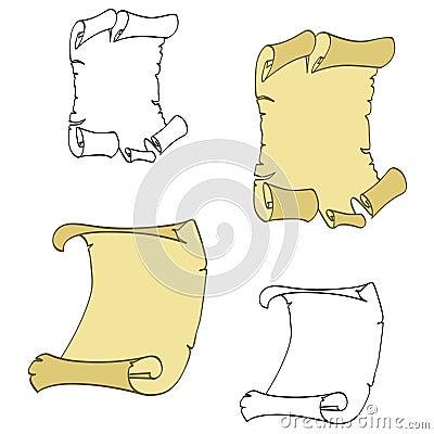 Parchments vector
