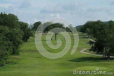 Parcours ouvert de trou de golf de la parité cinq
