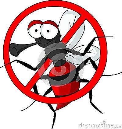 Pare desenhos animados do mosquito