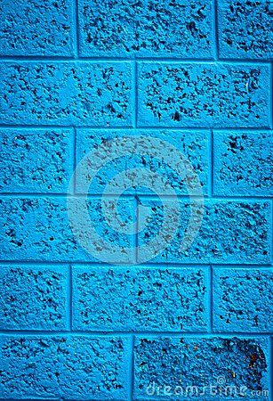 Pared azul