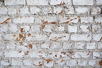 Pared de ladrillo envejecida
