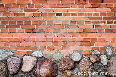 Pared de ladrillo y piedras fotograf a de archivo libre de - Ladrillos de piedra ...