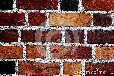Pared de ladrillos del color