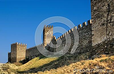 Pared Genoese de la fortaleza