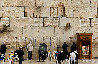 Pared occidental en Jerusalén Foto editorial