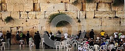 Pared occidental en Jerusalén Imagen de archivo editorial