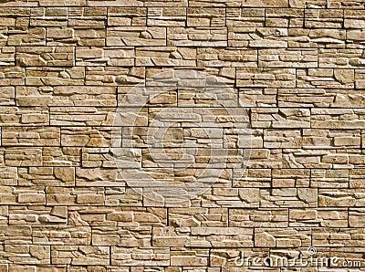 Parede das pedras decorativas