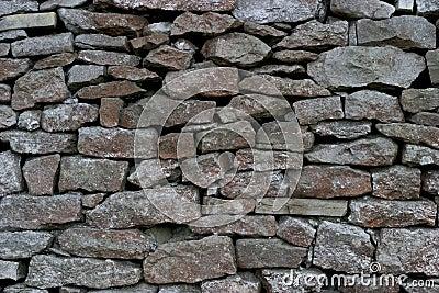 Parede Drystone - pedra calcária