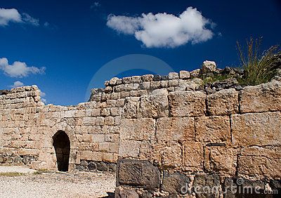 Parede interna norte da fortaleza de Belvoir