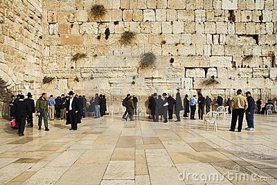 Parede ocidental em Jerusalem Imagem Editorial