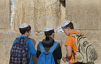 Parede ocidental (parede lamentando) Jerusalem Fotografia Editorial