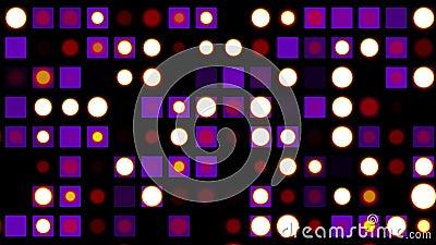A parede sem emenda do disco do laço ilumina o fundo da animação piscar - colorido animado dinâmico do movimento universal novo d vídeos de arquivo