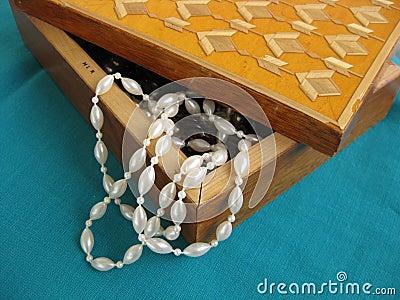 Parel in kleine doos