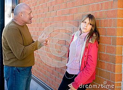 Parent conversation with child