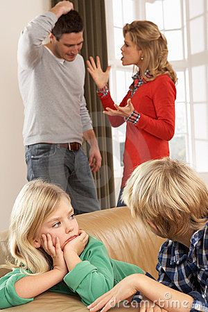 Parents Having Argument At Home