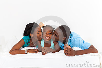 Parents Kissing Daughter Stock Images - Image: 28457204