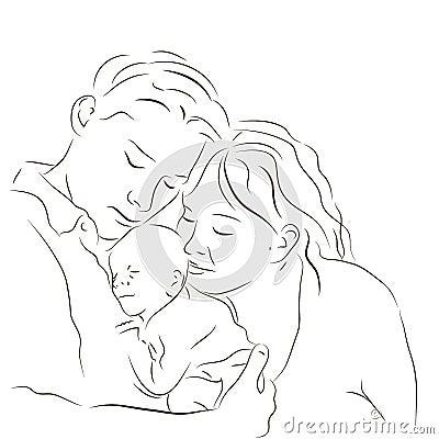 Parents with a newborn