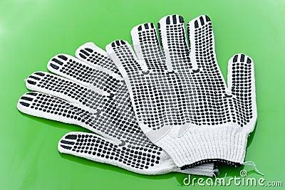 Pares de guantes del trabajo