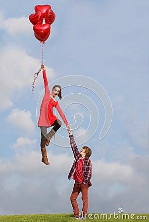Pares de las tarjetas del día de San Valentín