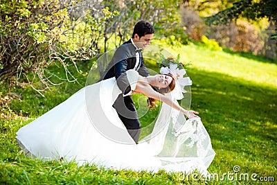 Pares do casamento da dança