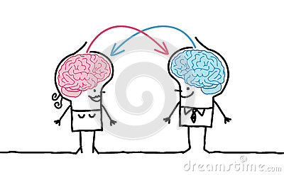 Pares & troca grandes do cérebro