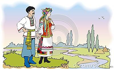 Trajes tipico do mundo  Pares-ucranianos-em-trajes-nacionais-coloridos-thumb19249138