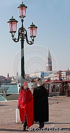 Pares venecianos Foto de archivo editorial
