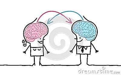 Pares y intercambio grandes del cerebro