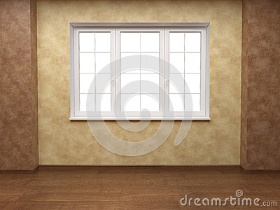 Fotografia stock: beige and brown walls with window. immagine: