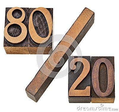 Free Pareto Principle In Letterpress Type Stock Image - 23062491