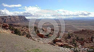 Paria峡谷银朱的峭壁原野,犹他,美国