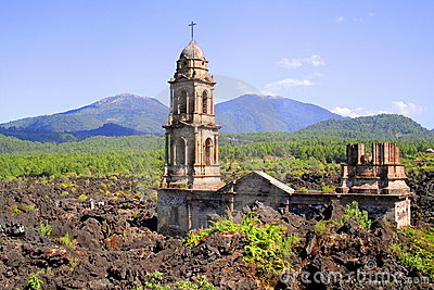 Paricutin ruins