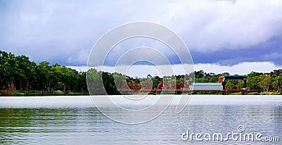 Paringa Bridge, Stormy Sky
