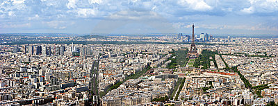 Paris aerial panorama